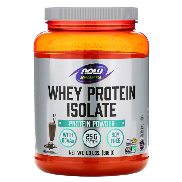 Now Foods, Sports, Whey Protein Isolate, Dutch Chocolate, 1.8 lbs (816 g)