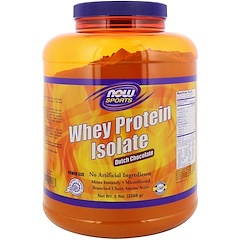 Now Foods, Sports, Whey Protein Isolate, Dutch Chocolate, 5 lbs (2268 g)