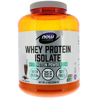 Now Foods, Sports, Whey Protein Isolate, Creamy Chocolate, 5 lbs (2268 g)