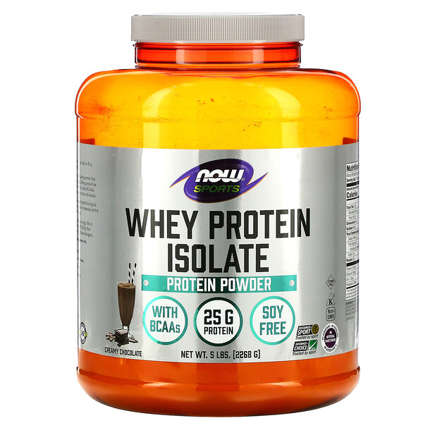 Now Foods, Sports, Whey Protein Isolate, Creamy Chocolate, 5 lbs (2,268 g)