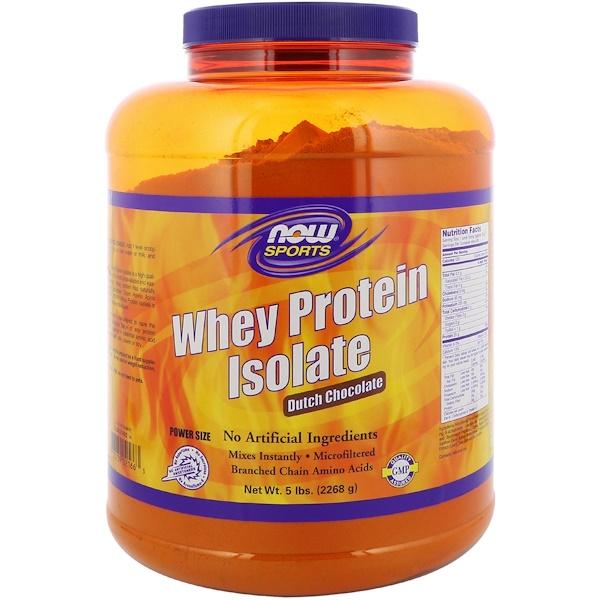 Now Foods, للأنشطه الرياضيه  معزول بروتين مصل اللبن ٥ باوند (٢٢٦٨ غرام )