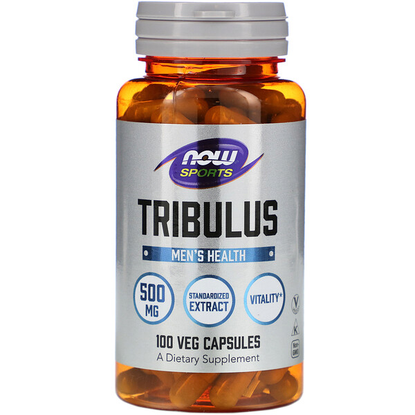 Now Foods, Tribulus, 500 mg, 100 cápsulas vegetales