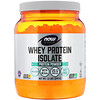 Now Foods, Sports, Whey Protein Isolate, 가미 안됨, 544 g(1.2 lbs)