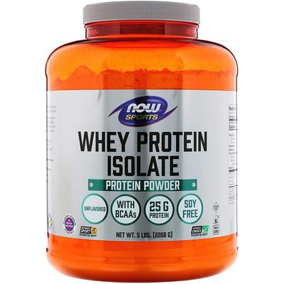 цена Sports, Whey Protein Isolate, без ароматизаторов, 5 фунтов (2268 г)