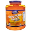 Now Foods, Sports, Whey Protein Isolate, Natural Unflavored, 5 lbs (2268 g)