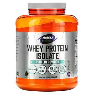 Now Foods, Sportsـ بروتين شرش اللبن المعزول، خالٍ من النكهات، 5 رطل (2,268 جم)