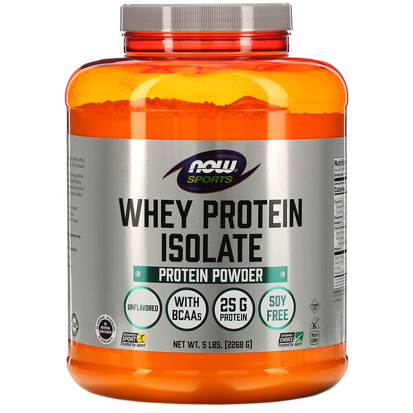 Sports, Whey Protein Isolate, Unflavored, 5 lbs (2268 g)