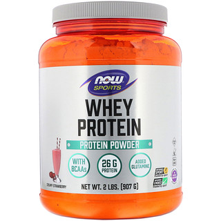 Now Foods, Sports, Whey Protein, Creamy Strawberry, 2 lbs (907 g)