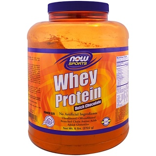 Now Foods, Whey Protein, Dutch Chocolate , 6 lbs (2722 g)