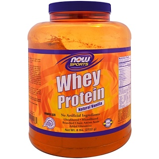 Now Foods, Whey Protein, Natural Vanilla , 6 lbs (2722 g)