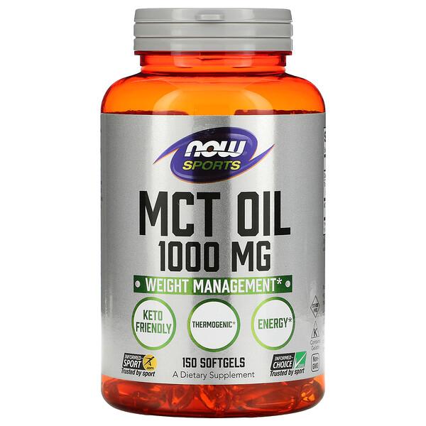 Sports, MCT Oil, 1,000 mg, 150 Softgels