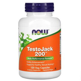 Now Foods, TestoJack200, 120растительных капсул