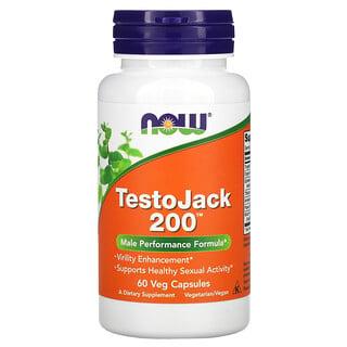 Now Foods, TestoJackعدد 200، 60 كبسولة نباتية