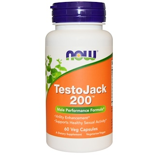 Now Foods, TestoJack 200, 60 Cápsulas Vegetais