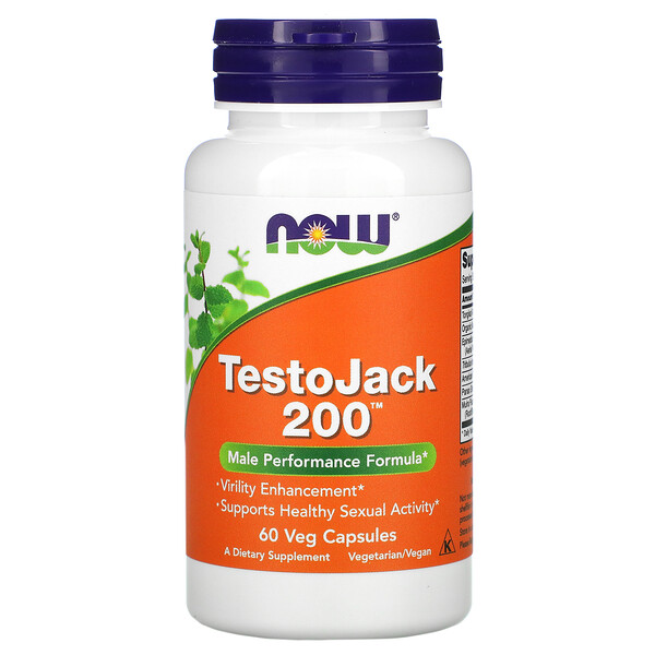 Now Foods, TestoJack 200 素食膠囊,60 粒裝
