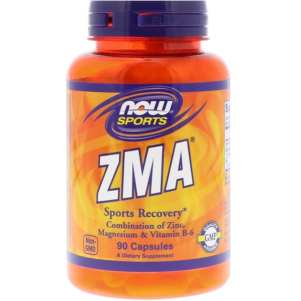 Now Foods, ZMA, Sports Recovery, 90 капсул
