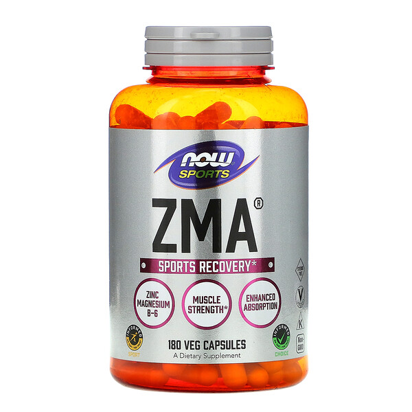 Now Foods, Sports, ZMA, Sports Recovery, 180 Veg Capsules