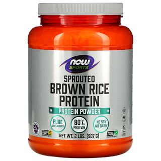 Now Foods, Deportes, Proteína de arroz integral germinado, 2 lbs (907 g)