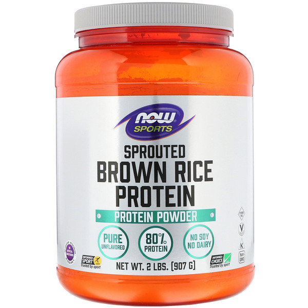 Sports, Sprouted Brown Rice Protein, Unflavored, 2 lbs (907 g)