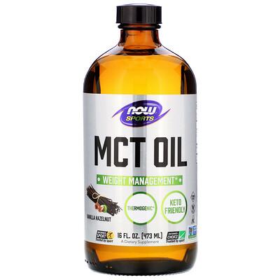 Sports, MCT Oil, Vanilla Hazelnut, 16 fl oz (473 ml)