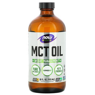 Купить Now Foods Sports, масло со среднецепочечными триглицеридами, с нейтральным вкусом, 473мл (16жидк.унций)