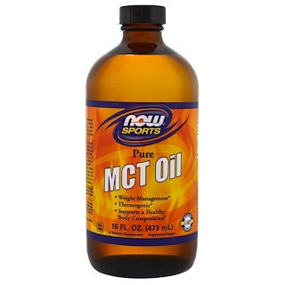 Now Foods, Sports, aceite MCT puro, 16 onzas (473 ml)