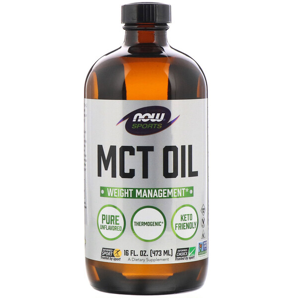 Now Foods, Sports, MCT Oil, Unflavored, 16 fl oz (473 ml)