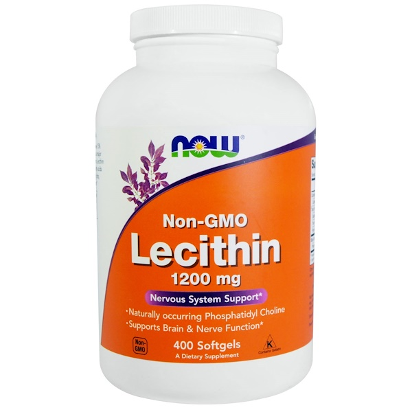 Now Foods, Non-GMO Lecithin, 1200 mg, 400 Softgels