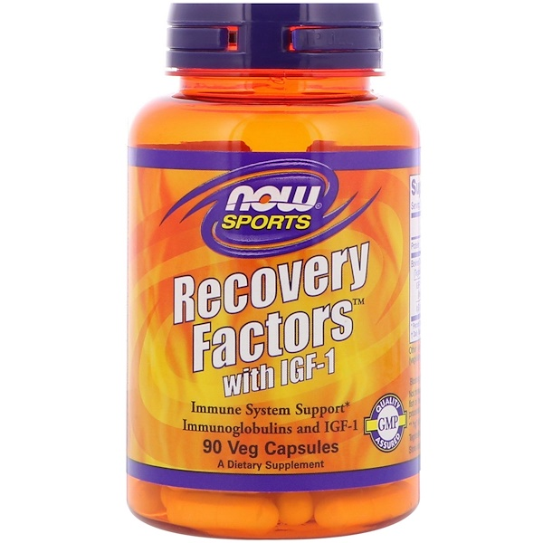 :Now Foods, Sports, Recovery Factors with IGF-1, 90 Veg  Capsules