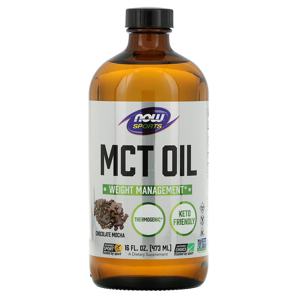 Sports, Óleo MCT, Moca de Chocolate, 16 fl oz (473 ml)