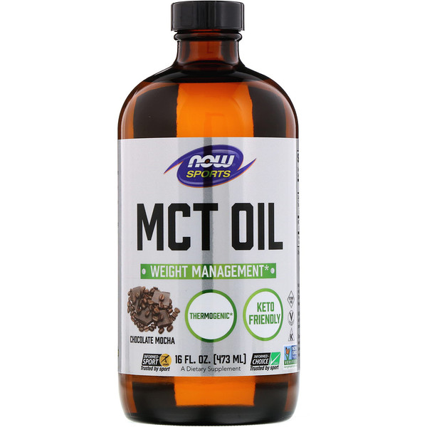 Sports, MCT Oil, Chocolate Mocha, 16 fl oz (473 ml)