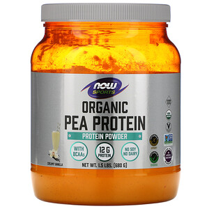 Now Foods, Sports, Organic  Pea Protein, Natural Vanilla, 1.5 lbs  (680 g) отзывы