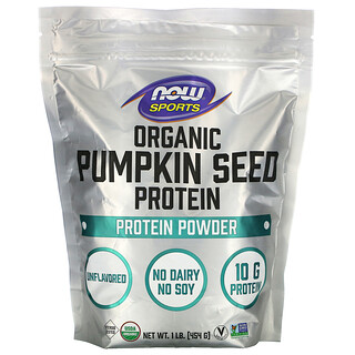 Now Foods, Sports, Organic Pumpkin Seed Protein Powder,  Unflavored, 1 lb (454 g)
