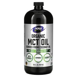 Now Foods, スポーツ、オーガニックMCTオイル、32液量オンス (946 ml)