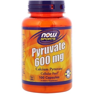 Now Foods, Pyruvate, 600 mg, 100 Capsules