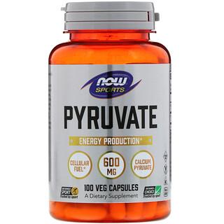 Now Foods, Pyruvate, 600 mg, 100 Veg Capsules