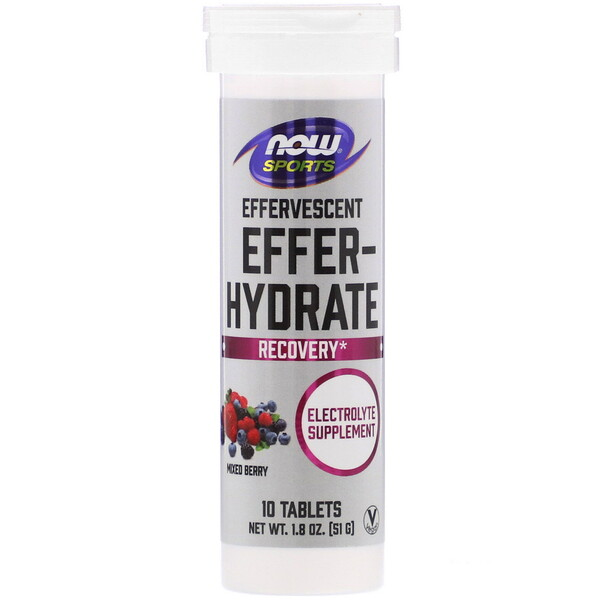 Sports, Effer-Hydrate, Mixed Berry, 10 Tablets, 1.8 oz (51 g)