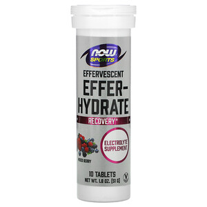 Now Foods, Sports, Effer-Hydrate, Mixed Berry, 10 Tablets, 1.8 oz (51 g) отзывы