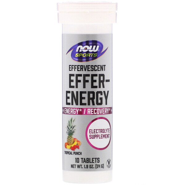 Sports, Effer-Energy, Tropical Punch, 10 Tablets, 1.9 oz (54 g)