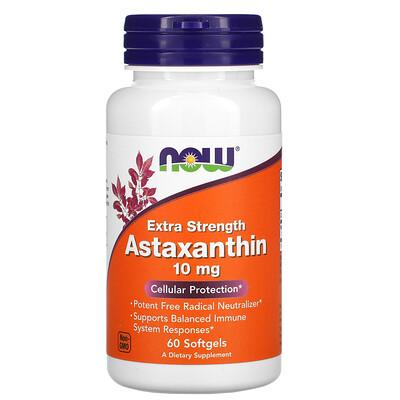 Купить Now Foods астаксантин, 10мг, 60капсул