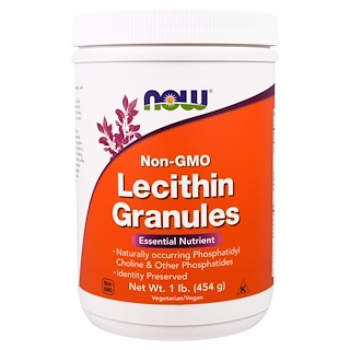 Now Foods, Lecithin Granules, Non-GMO, 1 lb (454 g)