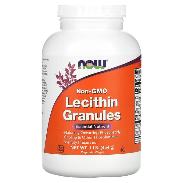 Now Foods, лецитин в гранулах, без ГМО, 454г (1фунт)