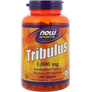 Now Foods, Трибулус, 1000 мг, 180 Таблеток инструкция, применение, состав, противопоказания