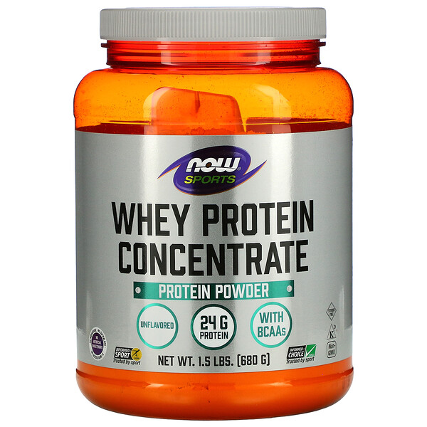 Now Foods, Sports, Concentrado de Proteína de Suero, Natural Sin Sabor, 1.5 lbs (680 g)