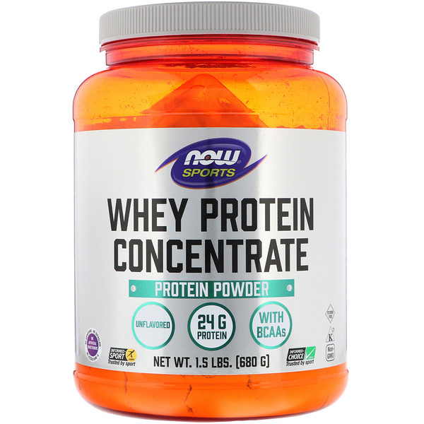 Sports, Whey Protein Concentrate, Unflavored, 1.5 lbs (680 g)