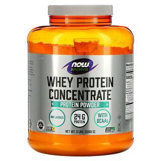 Now Foods, スポーツ、ホエイタンパク質濃縮物、無風味、2268g(5lb)