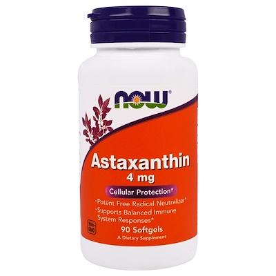 Астаксантин, 4 мг, 90 мягких желатиновых капсул