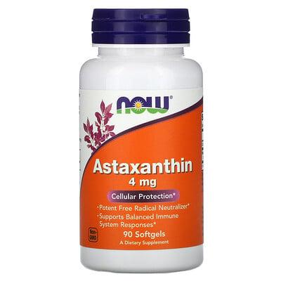 Now Foods астаксантин, 4мг, 90капсул