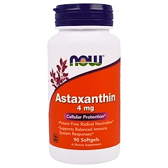 Now Foods, Astaxanthin, 4 ملغ, 90 كبسولة