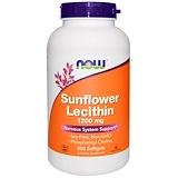 Отзывы о Now Foods, Лецитин из подсолнечника, 1200мг, 200мягких таблеток